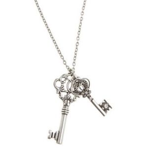 American Eagle Silver Key Pendent Necklace